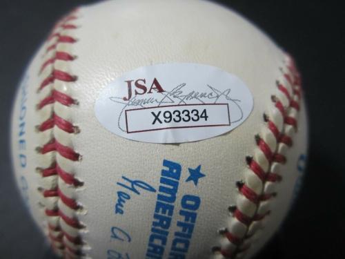 George Bush Signed Baseball - H W President OAL JSA Letter COA