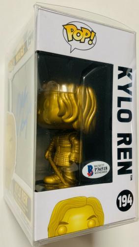 Adam Driver Signed Kylo Ren Funko Pop Star Wars Gold LE Exclusive - Beckett BAS