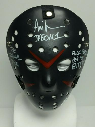 "Ari Lehman Signed Black Friday The 13th Mask ""Original Jason/F*ck Freddy"" PSA"