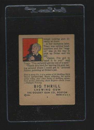 1934 Goudey Big Thrill Chewing Gum Book Dick Tracy Vault Of Death #3 EX