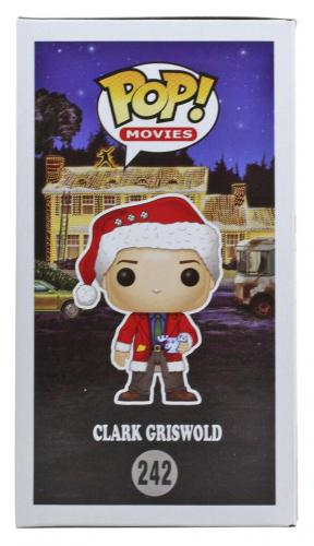 Chevy Chase Christmas Vacation Signed Funko Pop Figure w/ White Sig BAS Witness