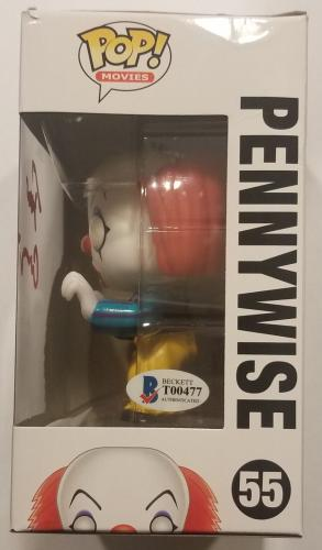 TIM CURRY Signed IT PENNYWISE POP! AUTO BAS COA FUNKO