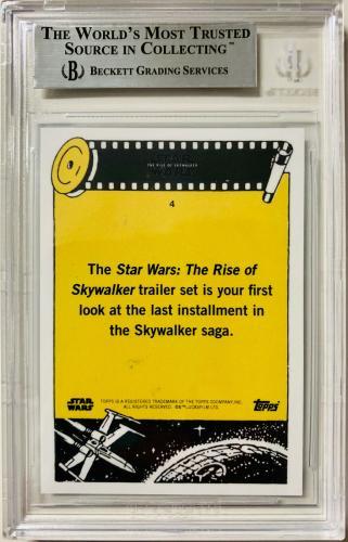 Adam Driver Signed Star Wars Rise of Skywalker Topps Card #4 - Beckett BAS