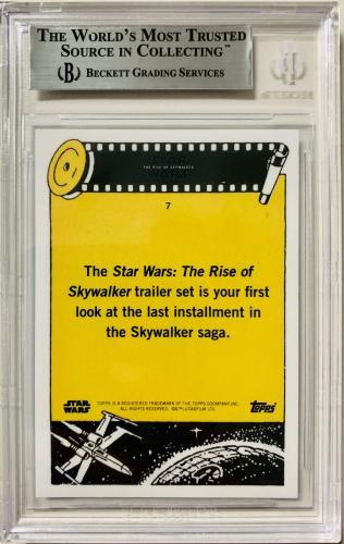 Daisy Ridley Signed Star Wars Rise of Skywalker Topps Card #7 Rey Beckett BAS