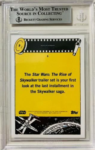 Daisy Ridley Signed Star Wars Rise of Skywalker Topps Card #6 Rey Beckett BAS