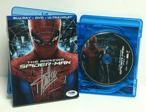 Stan Lee Signed The Amazing Spider-Man DVD PSA Y17877