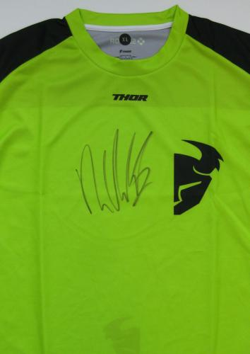 Ryan Villopoto Supercross Motocross signed autographed Thor Jersey. exact Proof.