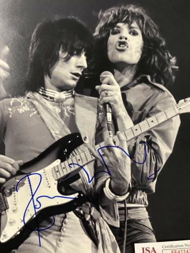 Ronnie Wood Signed Photo 11x14 JSA Mick Jagger Autograph Vintage Rolling Stones