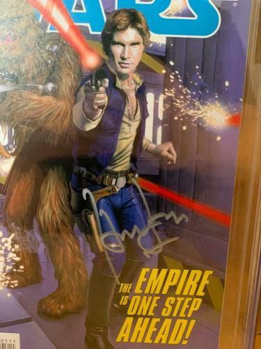 Han Solo CGC 9.8 Signed Harrison Ford Star Wars #5 Dark Horse Comic