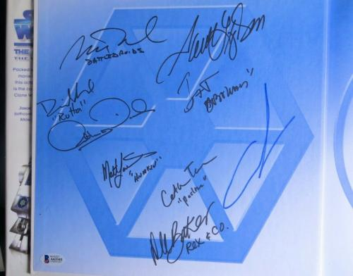 Star Wars The Clone Wars Cast Signed Autographed Book w/George Lucas BAS A63341