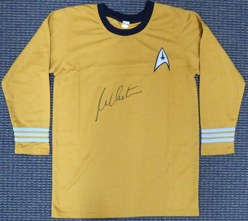 William Shatner Autographed Framed Star Trek Uniform Shirt JSA Stock #160686