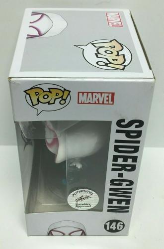 Stan Lee Signed Spider-Gwen Marvel Funko Pop #146 Excelsior Approved COA