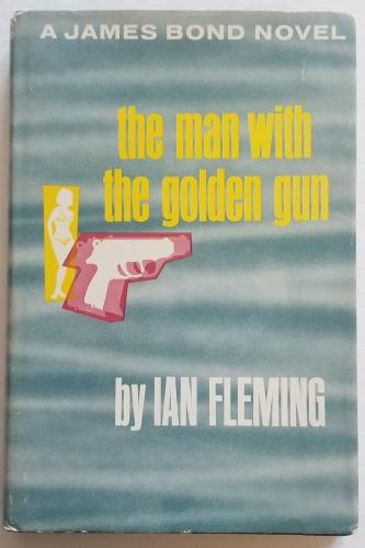 ROGER MOORE Signed JAMES BOND Man with the Golden Gun Fleming Book PSA/DNA 0770