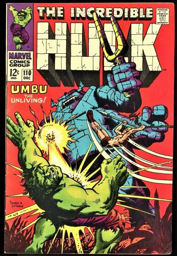 Incredible Hulk #108, 110, 112 Silver Age Lot, 12 Cent Covers, Stan Lee Issues
