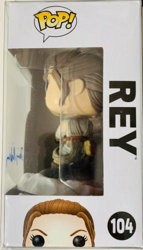 Daisy Ridley Signed Rey Funko Pop Star Wars Jedi - BAS Beckett Witness #104