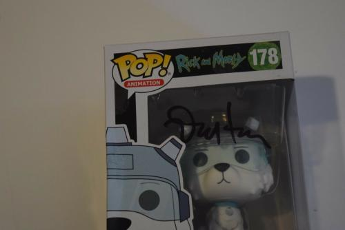 Dan Harmon Signed Rick and Morty SNOWBALL 178 Funko Pop Figure Beckett BAS COA