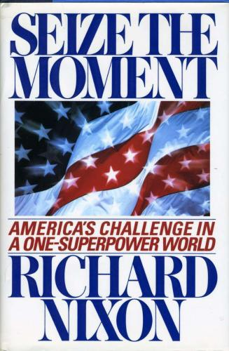 Richard Nixon JSA Coa Signed Book Seize The Moment Autograph
