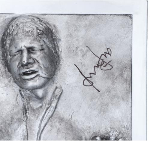 Harrison Ford Star Wars Autographed Han Solo Carbonite Bust - BAS