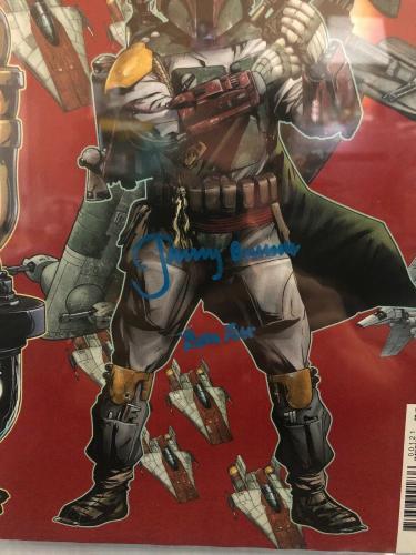 Jeremy Bulloch Signed Stars Wars Boba Fett Comic Book Beckett Slabbed 2