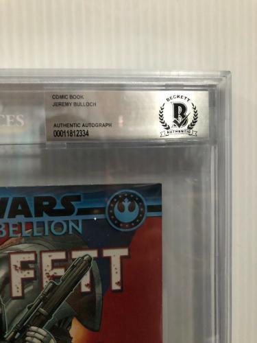 Jeremy Bulloch Signed Stars Wars Boba Fett Comic Book Beckett Slabbed