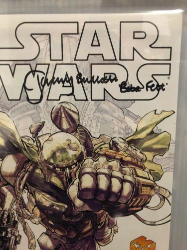 Jeremy Bulloch Signed Stars Wars Boba Fett La Mole Comic Book Beckett Slabbed 3
