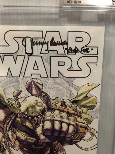 Jeremy Bulloch Signed Stars Wars Boba Fett La Mole Comic Book Beckett Slabbed 1