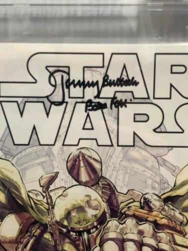 Jeremy Bulloch Signed Stars Wars Boba Fett La Mole Comic Book Beckett Slabbed 2