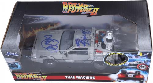 Michael J. Fox & Christopher Lloyd Back to the Future Autographed Die-Cast Car - BAS