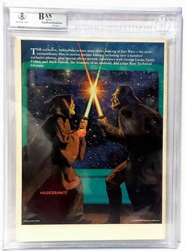 1977 Star Wars Album Magazine Signed (HAMILL, FORD & FISHER) Beckett BAS Slabbed