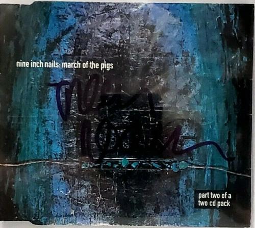 TRENT REZNOR Signed Autographed Nine Inch Nails NIN CD Cover Beckett BAS Slabbed