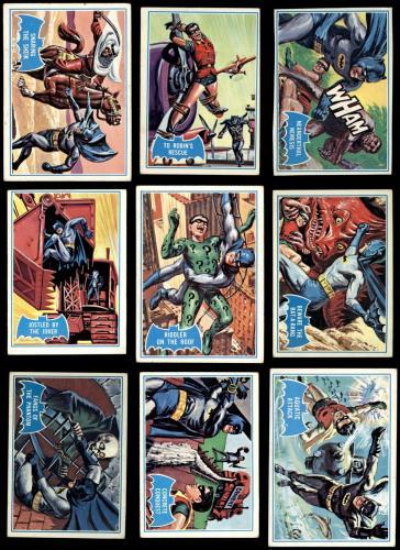 1966 Topps Batman Blue Bat Complete Set 4 - VG/EX