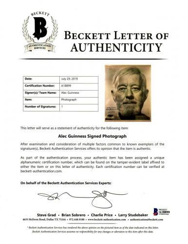 "ALEC GUINNESS Signed Autographed ""OBI-WAN KENOBI"" 8x10 Photo Beckett BAS Slabbed"