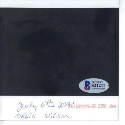 Brian Wilson Signed Autographed 5x5 Beach Boys Photograph Beckett BAS