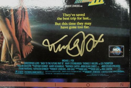 Back to the Future III Signed Laserdisc Cover Michael J Fox Chrisopher Lloyd JSA
