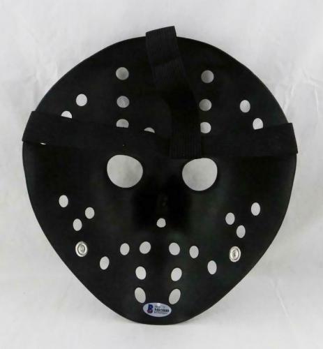 Ari Lehman Signed Friday The 13th Black Jason Mask w/Jason 1-Beckett Auth *White