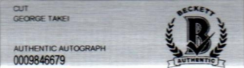 Beckett-bas Star Trek George Takei Autographed-signed-drawn 4x4 Hand Sketch 6679