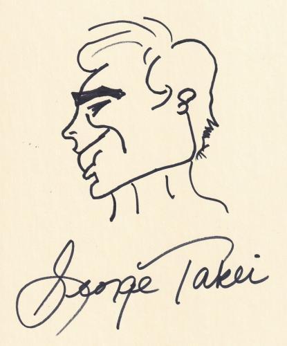 Beckett-bas Star Trek George Takei Autographed-signed 8x10 Hand Drawn Sketch 899