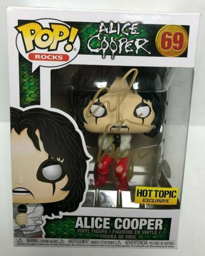 Alice Cooper Signed Hot Topic Exclusive Funko Pop #69 JSA EE99592