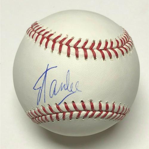Stan Lee Signed Major League Baseball *Spider-Man **Excelsior Marvel PSA X08655