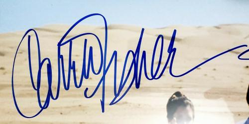 MARK HAMILL & CARRIE FISHER Signed Auto Star Wars 8x10 Photo PSA/DNA Slabbed