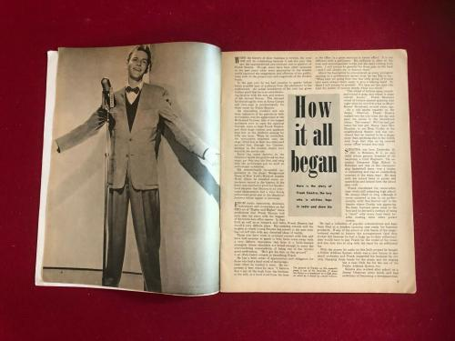 """1945, Frank Sinatra,""""The Story of His Life"""" Magazine (No Label) Scarce / Vintage"""