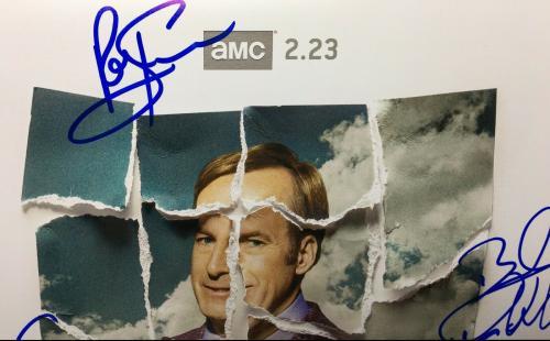 Bob Odenkirk Giancarlo Esposito +7 Signed Better Call Saul 12x18 Photo PSA 74549