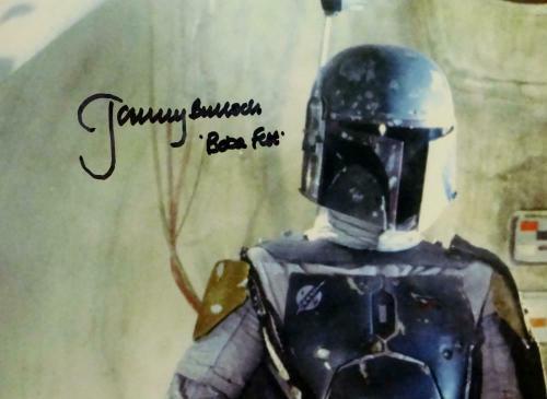 Jeremy Bulloch Autographed Boba Fett In Cantina 11x14 Photo- JSA W Auth *Black