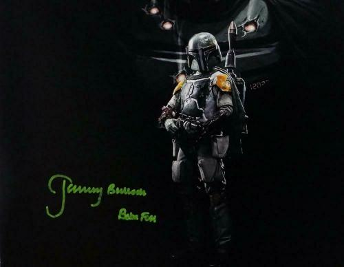 Jeremy Bulloch Autographed Boba Fett Double Image Black 11x14 Photo- JSA W Auth
