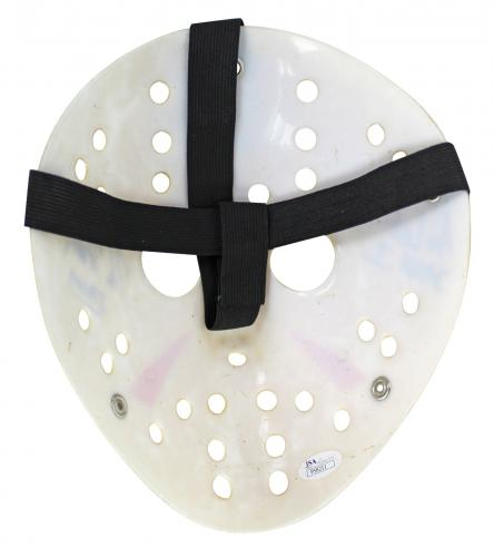 Hodder, White & Lehman Friday The 13th Signed Yellow Jason Mask JSA #P58211
