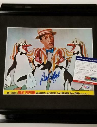 Dick Van Dyke signed Mary Poppins 8x10 Original Lobby Card FRAMED C~ PSA/DNA COA