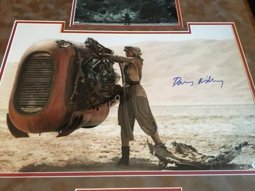 Daisy Ridley Auto Signed Framed 16x20 Star Wars Photo Rise Of Skywalker PSA/DNA