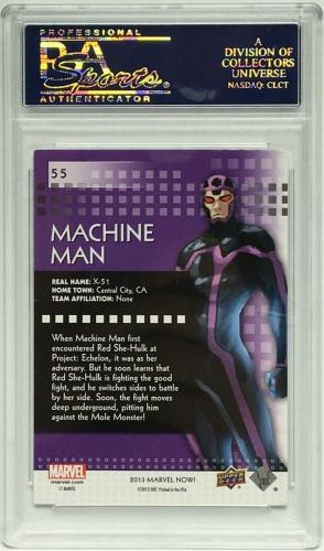 Stan Lee Signed 2014 'Machine Man' Marvel Now Trading Card PSA 83583130