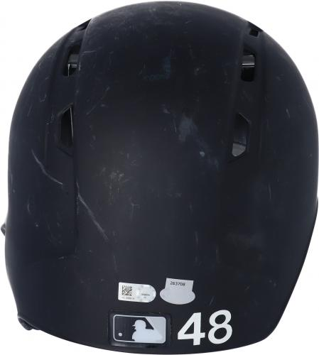 Chris Carter New York Yankees Game-Used #48 Batting Helmet from the 2017 MLB Season - JC009914
