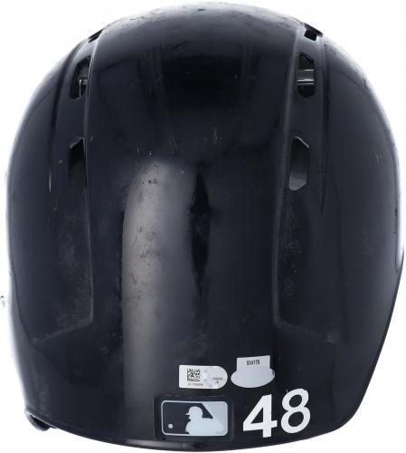 Chris Carter New York Yankees Player-Issued #48 Batting Helmet from the 2017 MLB Season - JB769958